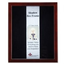 Lawrence Frames 790111 Espresso Wood Shadow Box Picture Frame, 11 by 14-Inch - Satin Inner Lining