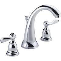 Lavatory Faucet Chrome 2h (Delta Faucet 35996LF-ECO 2H Chrome Lavatory Faucet with Popup)