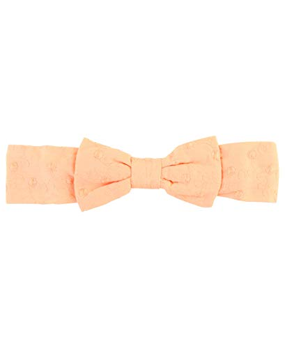 RuffleButts Baby/Toddler Girls Salmon Swiss Dot Headband - -