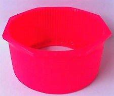 Underwater Kinetics New UK 7.25 Inch Hex Rim Flat Bottom Scuba Tank Boot - Neon Pink