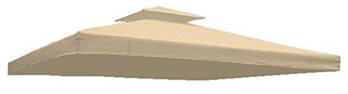 Ersatzdach Dach wasserdicht für Pavillon Partyzelt Festzelt (Beige)