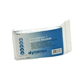 SILVER RESCUE SPACE BLANKET 12/PKG by Dynarex