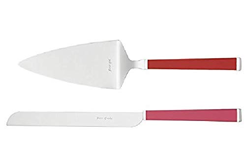 - Lenox Kate Spade New York Juno Drive Piece of Cake Knife and Server 2-Piece Dessert Serving Set, Pink Red New in box