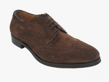 Mens Italiano Doucals Dressy / Casual Lace Up Bruches Scarpe In Pelle Scamosciata 1038 Marrone