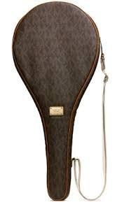 Michael Kors Jet Set Mk Signature PVC Tennis Racket Cover Brown