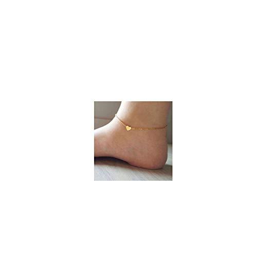 Gold Heart Ankle Bracelet - DeScount Gold Tiny Heart Anklet,Delicate Heart Ankle Bracelet,Simple Minimalist Dainty Love Little Heart Anklets for Girls Women