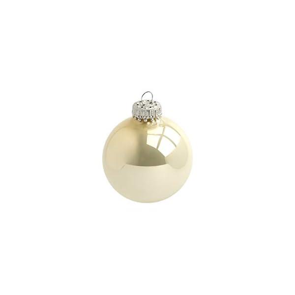Heitmann Deco Krebs & Sohn Set di 20 Palline di Natale in Vetro - Albero di Natale Deco Appeso - Palle di Natale 5,7 cm - Oro Avorio 6 spesavip