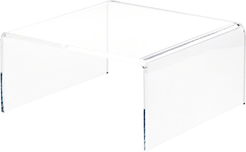Plymor Brand Clear Acrylic Short Square Riser, 6