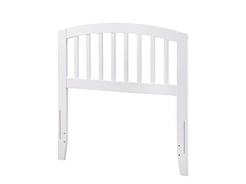 Atlantic Furniture AR288822 Richmond Headboard, Twin, White (Twin Bed White Headboard)