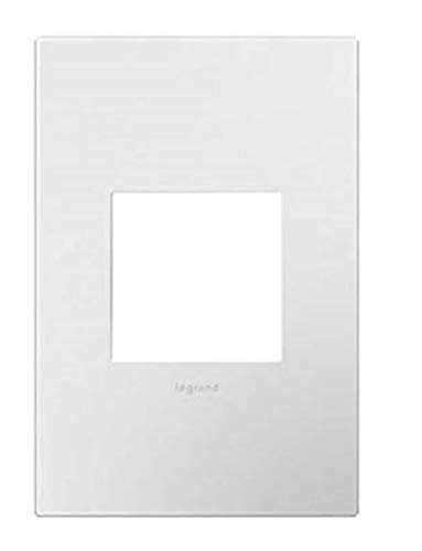 (Legrand Adorne Gloss White on White Backplate, 1-Gang Wall Plate AWP1G2WHW10)