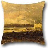 Oil Painting William Lamb Picknell - Cottage By The Sea Pillow Shams 18 X 18 Inches / 45 By 45 Cm Best Choice For Bf,boys,relatives,monther,bedroom,dining Room With Twin Sides ()