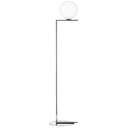 Flos IC F1 Floor Lamp Chrome and Blown Glass Design M. Anastassiades 2014 - Flo Glass