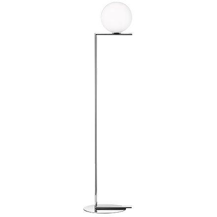 Flos IC F1 Floor Lamp Chrome and Blown Glass Design M. Anastassiades 2014 - Glass Flo