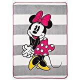 Franco Minnie Mouse Pink & White Bed Blanket (Twin) 62 x 90