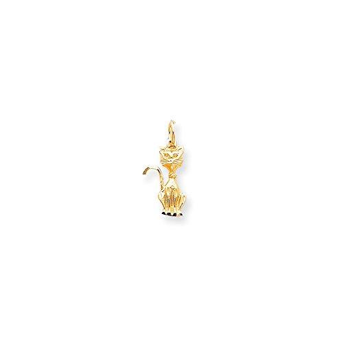 10k Yellow Gold Tom Cat Charm (Charm Gold Yellow Cat)