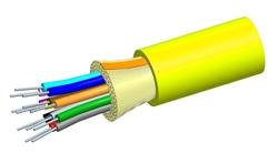 P-006-DS-8W-FSUYL: Systimax 6-Fiber Tight-Buffered Plenum Distribution Cable, Singlemode, OS2, Yellow Jacket