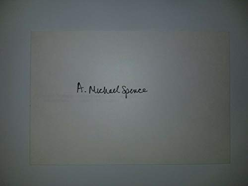 """""""Nobel Prize in Economic Science"""" Michael Spence Hand Signed Card Mueller COA from Unknown"""