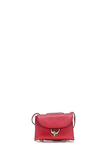 Salvatore Ferragamo Mujer 684668 Rojo Cuero Bolso De Hombro