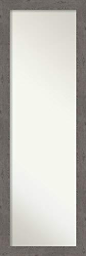 Amanti Art Full Length Mirror | Rustic Plank Grey Narrow Mirror Full - Of For Mirrors Bathroom Door Back