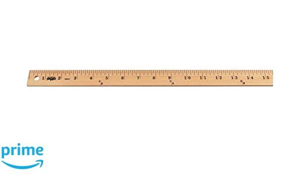 School Smart Plain End Wood Yardstick 1 Yd L X 1 18 In W X 14 In