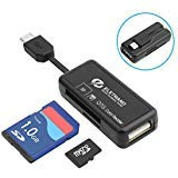 Micro USB OTG to USB 2.0 Adapter, 2-in-1 SD/Micro SD Memory