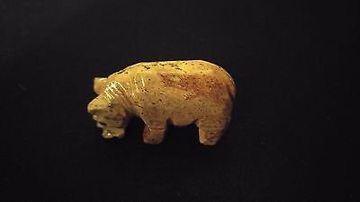 HIPPO Spirit Animal Totem Hand Carved Dolomite Stone 1.25