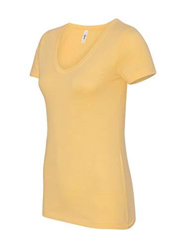 Next Level Women's Lightweight The Ideal V-Neck T-Shirt, Medium, Banana]()