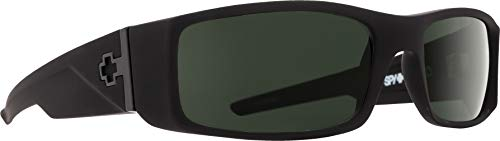 Spy Optic Hielo 670375973863 Flat Sunglasses, 56 mm (Soft Matte Black/Happy ()
