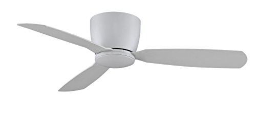 - Fanimation Embrace - 52 inch - Matte White with Matte White Blades with Light Kit and Remote  - FPS7955MW