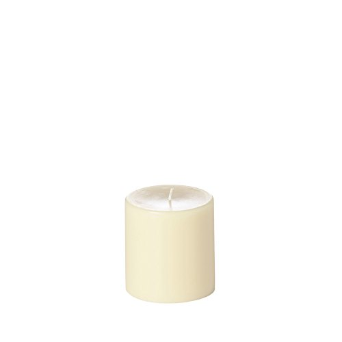 Yummi 4x4 Unscented Column Pillar Candle, Ivory, ea