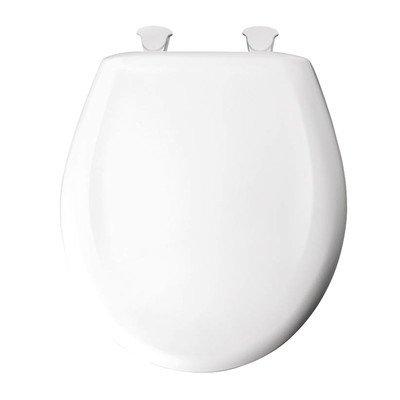 Residential Plastic Round Toilet Seat Finish: Cotton White