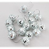 18 Piece Silver 1.8 Inch Disco Ball Mirror Party Christmas Xmas Tree Ornament for $<!--$14.99-->