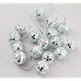 18 Piece Silver 1.8 Inch Disco Ball Mirror Party Christmas Xmas Tree Ornament ()