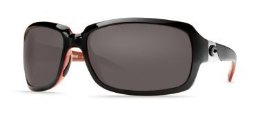 Costa Del Mar Isabela Polarized Sunglasses, Black Coral, Gray 580Plastic