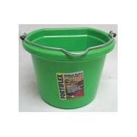 Fortiflex Flat Back Feed Bucket for Dogs/Cats and Small Animals, 8-Quart, Mango Green