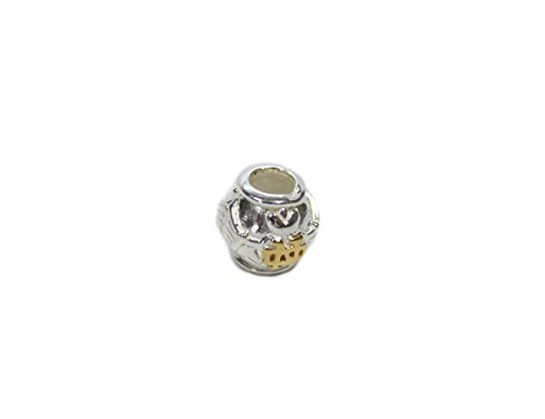 - Notre Dame Claddagh Bead Sterling Silver Gold Plate Irish Made