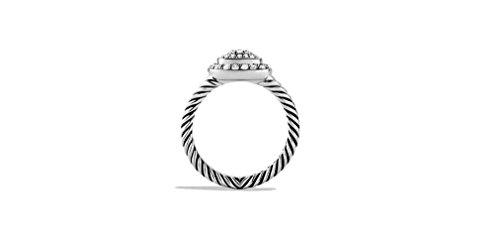 Or blanc 14K câble torsadé Albion Coupe ronde Diamant Bague de fiançailles, tous les Taille J à Z disponibles