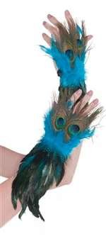 Costume Adults Peacock For (Amscan Womens Peacock Feather Gloves Halloween Costume)