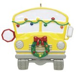 School Bus Personalized Christmas Tree Ornament