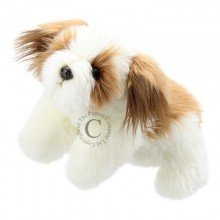 The Puppet Company Full-Bodied Animal  Hand Puppets Brown & White Dog