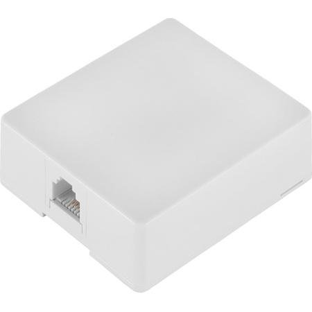RadioShack® 4-Pin Modular Telephone Jack (White)