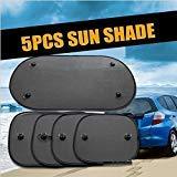MiAnMiAn Home Useful 5PC/Set Black Side Car Sun Shades Rear Window Sunshades Cover Mesh Visor Shield Screen Interior UV Protection Kids Baby Travel (Color: Black)