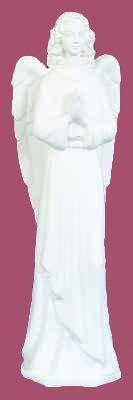36 inch Outdoor Nativity Standing Angel - White Finish