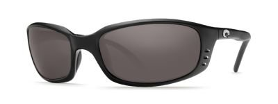 - Costa Del Mar Brine Polarized Sunglasses, Black, Gray 580Plastic