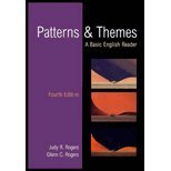 Patterns and Themes : College English Reader, Rogers, Judy R., 0155065971