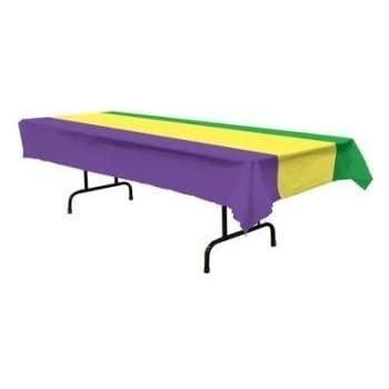 Amazon Com Mardi Gras Plastic Tablecloth 54 Quot X 108 Quot 6 Per