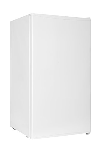 Midea WHS-121LW1 Compact Single Reversible Door Refrigerator and Freezer, 3.3 Cubic Feet, White