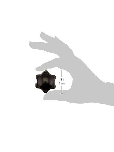 a12082700ux0801 UXCE9 Uxcell Flower Shape 6mm Thread Diameter Brass Core Black Metal Screw Nut Uxcell