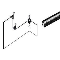 Edge Trim PVC Black Application Range 1.0-4.0 mm Height 14.5mm Width 10mm
