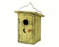- Songbird Essentials SE911 Birdie Loo Yellow Birdhouse (Set of 1)